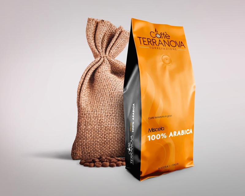 Terranova caffè - Matera - miscela Gold Bar 100% Arabica